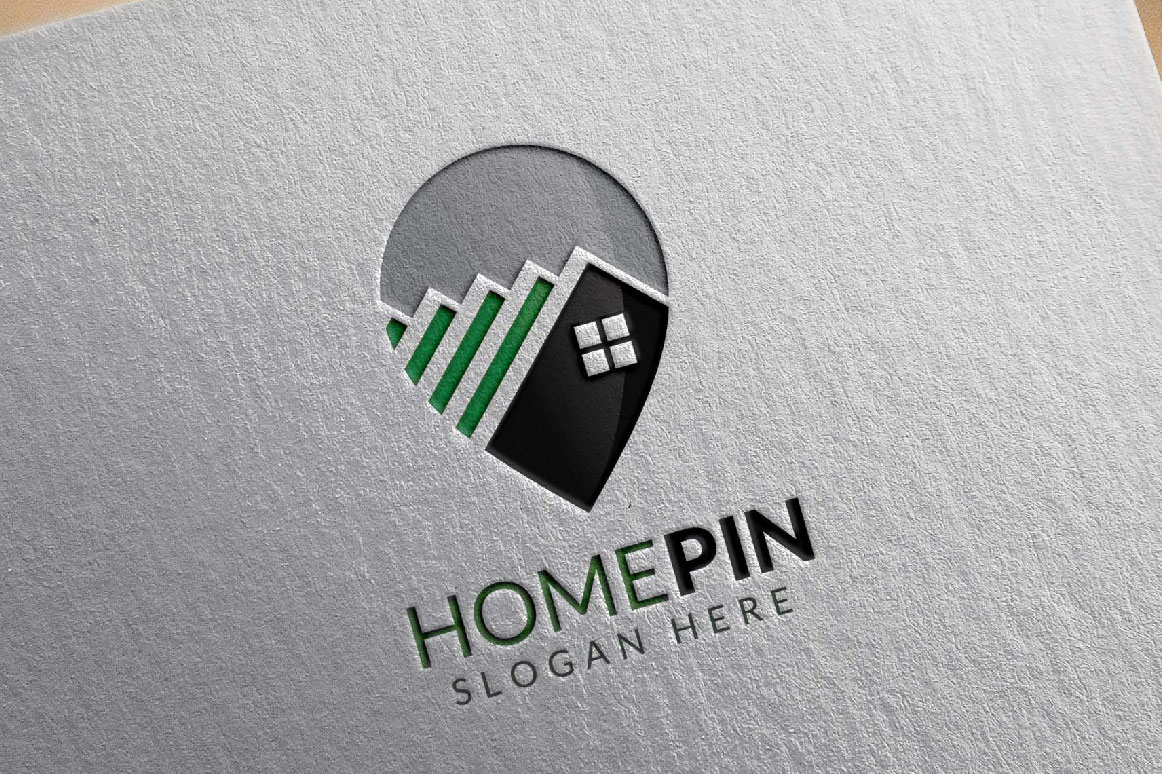 Home Pin Logo, Real estate logo example image 3