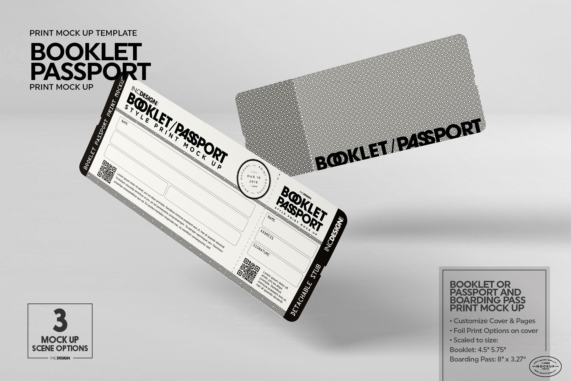 Booklet Passport Print MockUp example image 5