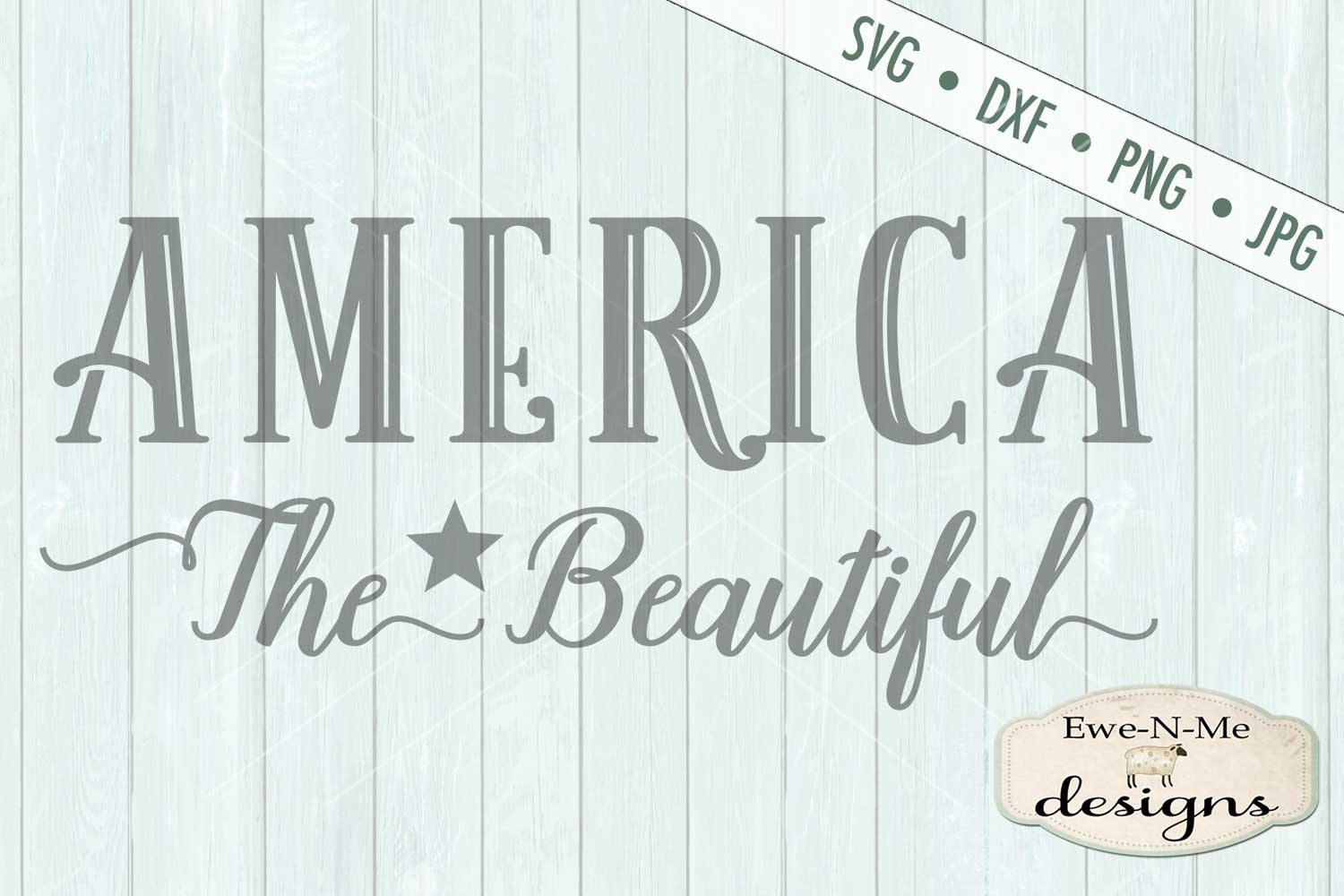 America The Beautiful SVG DXF Files example image 2