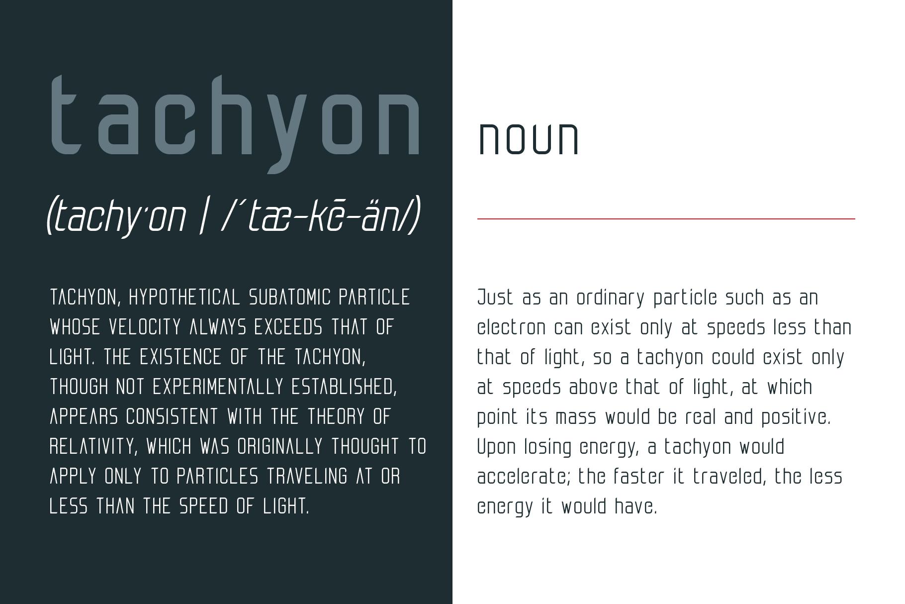 Tachyon Font - Condensed Sans Serif example image 3