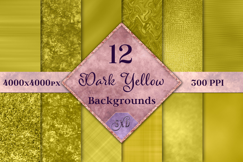 Dark Yellow Backgrounds - 12 Image Textures Set example image 1