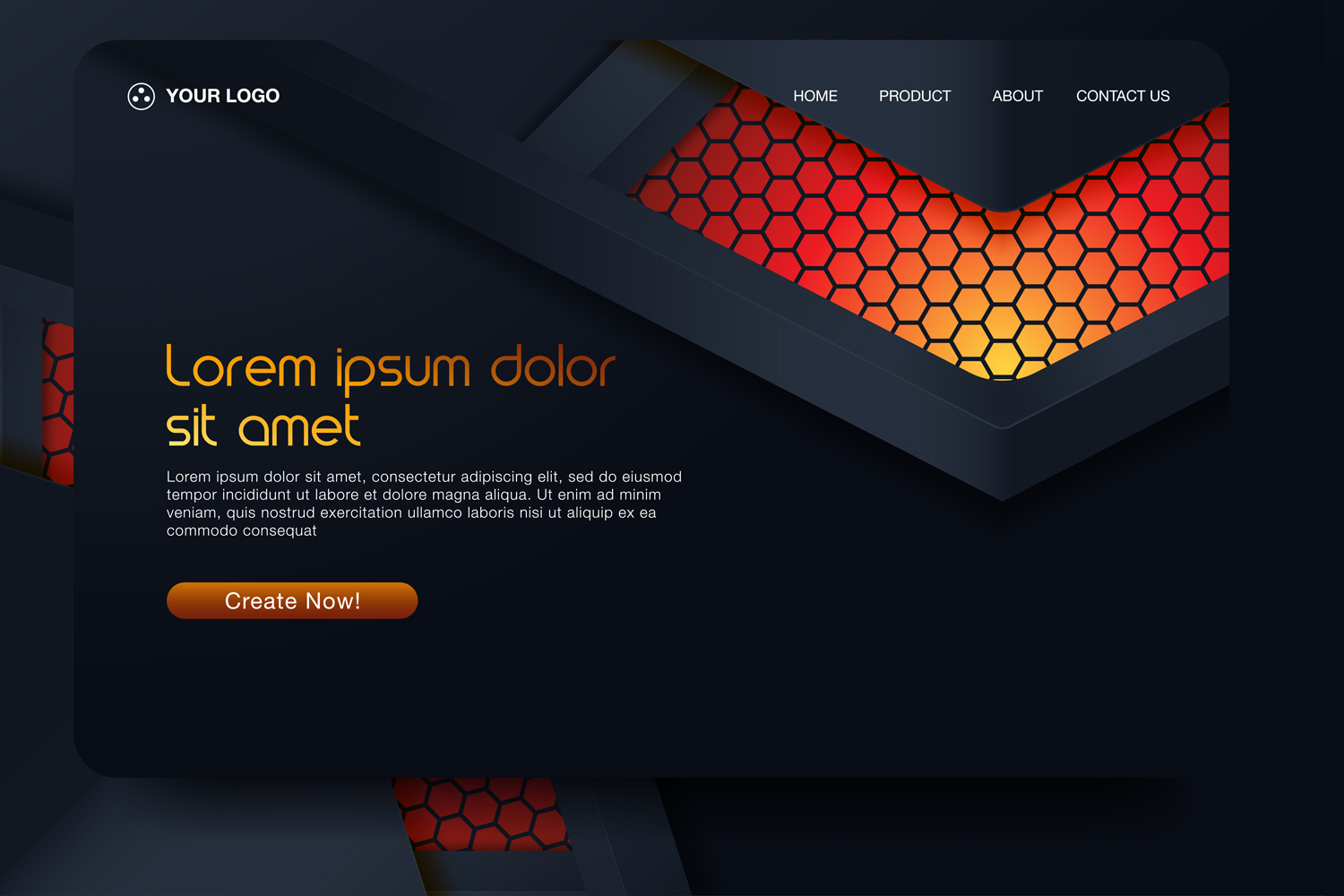20 - Abstract background design. Landing page template example image 12