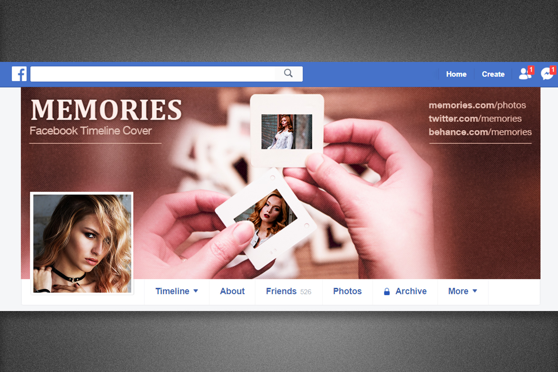 Memories Facebook Timeline Cover example image 6