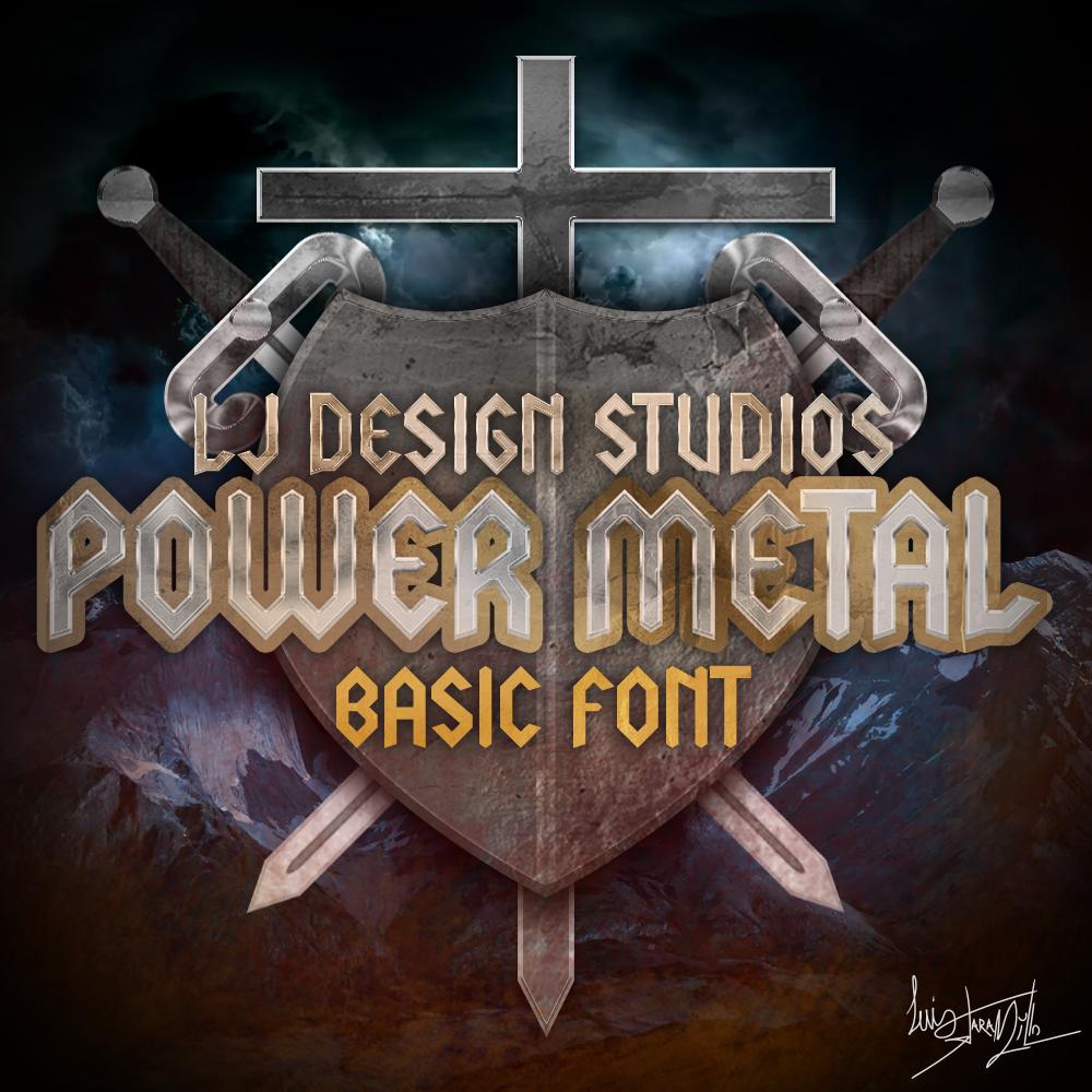 LJ Power metal Font example image 2