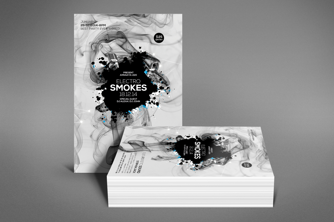 Smoke Night Party Flyer example image 4