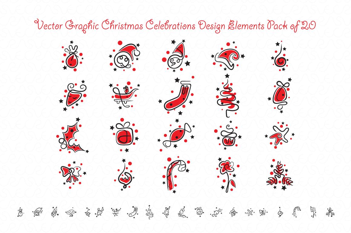 Christmas & New Year Bundle of Ornamental Mockups & Graphics example image 4