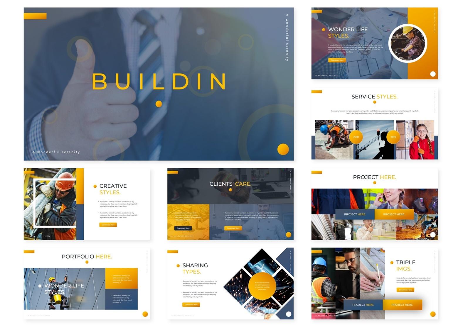 Buildin | Powerpoint, Keynote, GoogleSlides Template example image 4