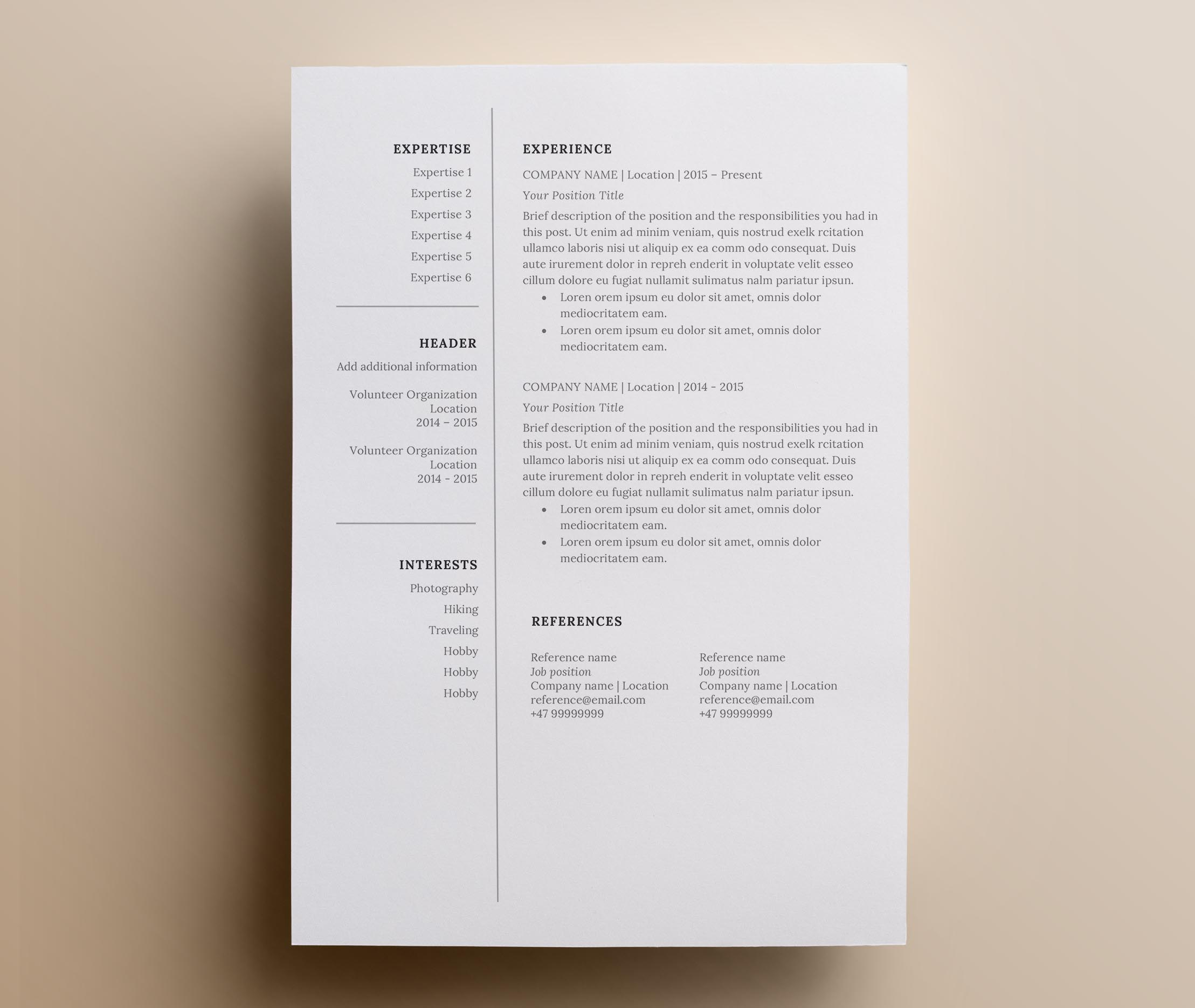 resume template  u0026 cover letter   icon set for microsoft word