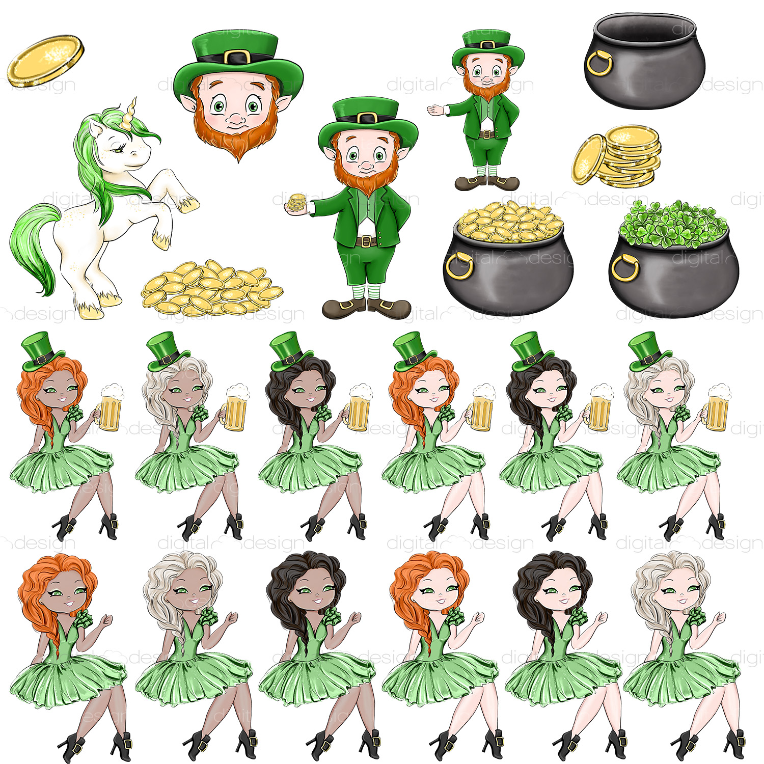 Its Your Lucky Day - Clipart example image 2