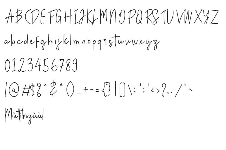 Anatonym - Script Font example image 6