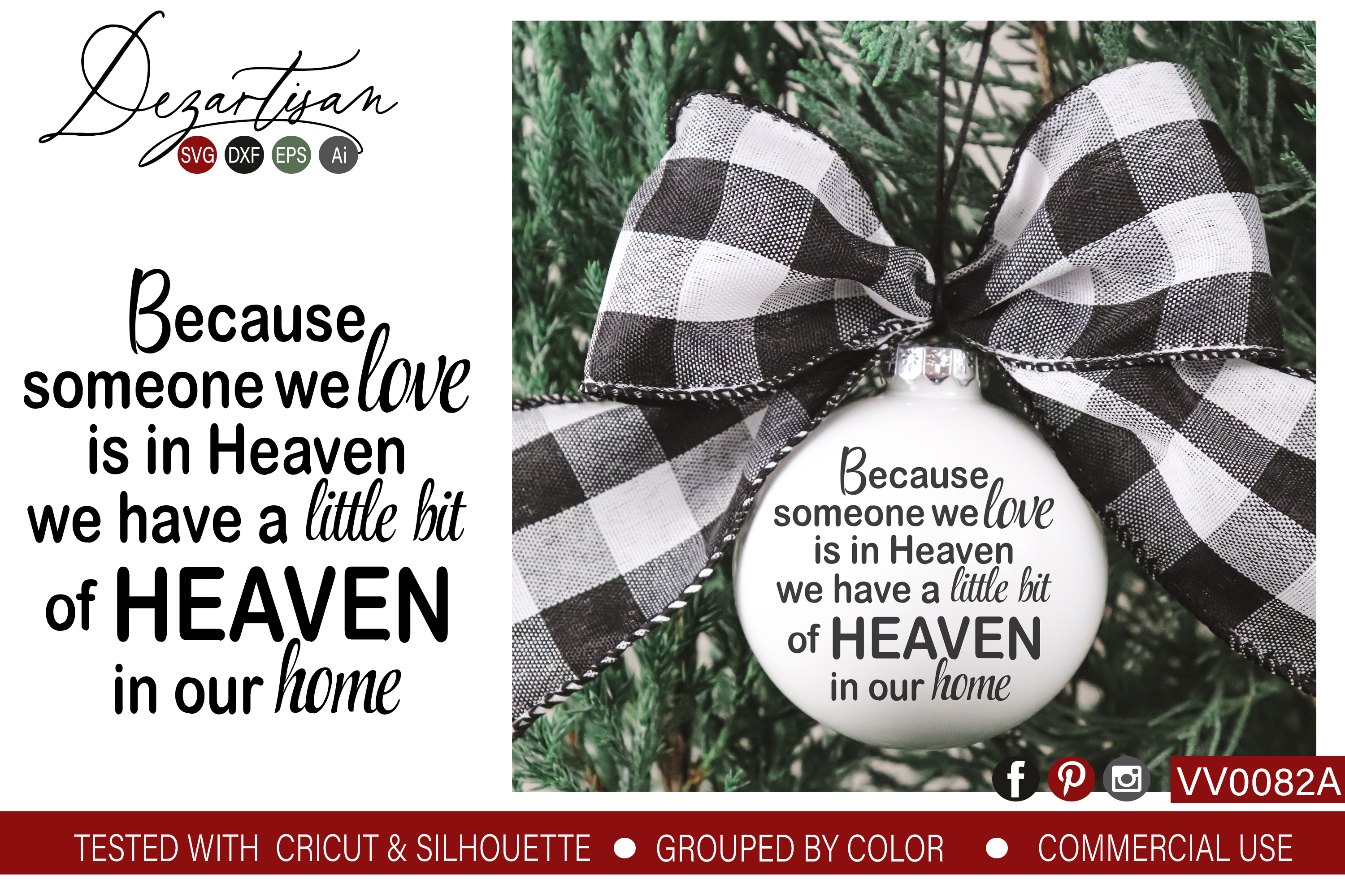 When You Have Someone Love In Heaven Svg Dxf Cut File Example Image 1