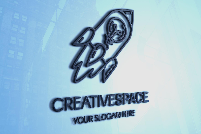 Creative Idea With Rocket Logo example image 2