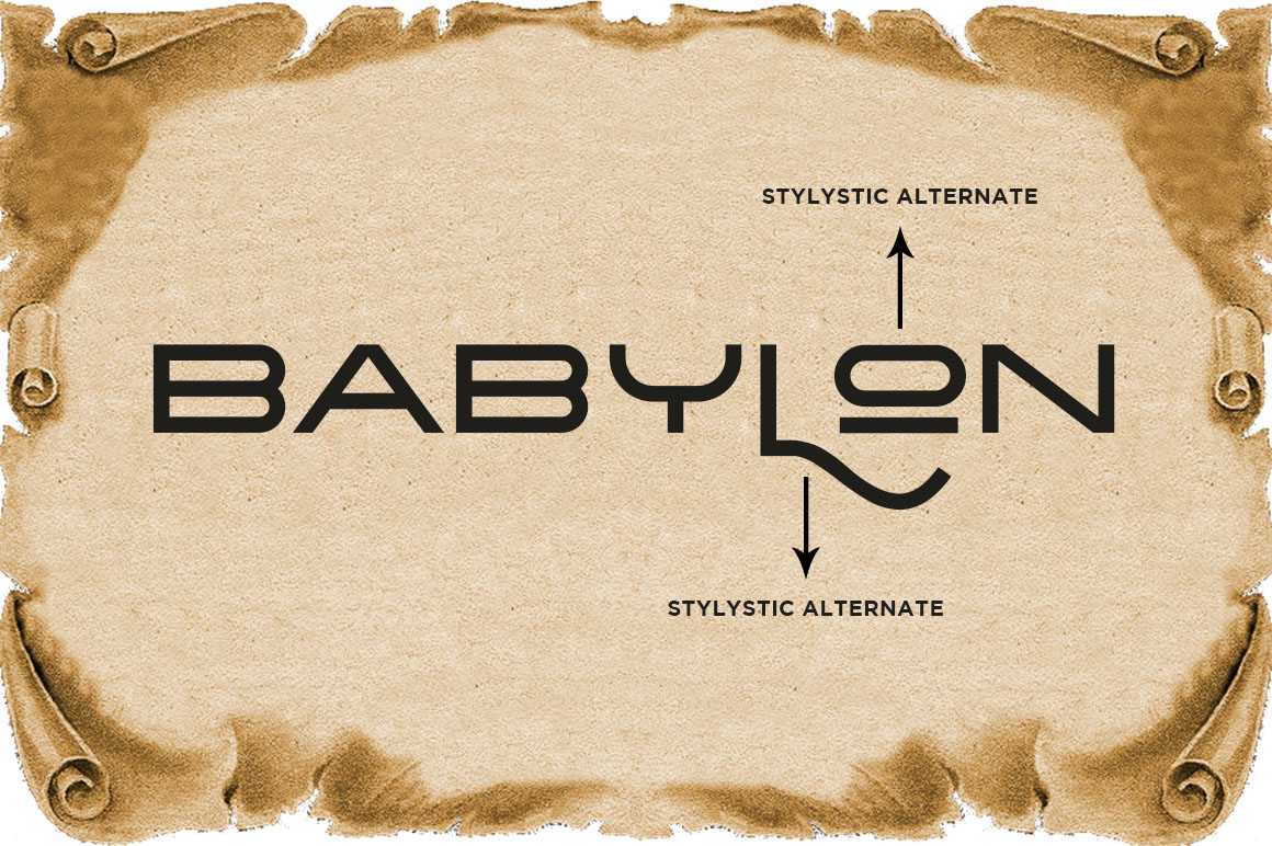 The Babylon Strong Typeface example image 10