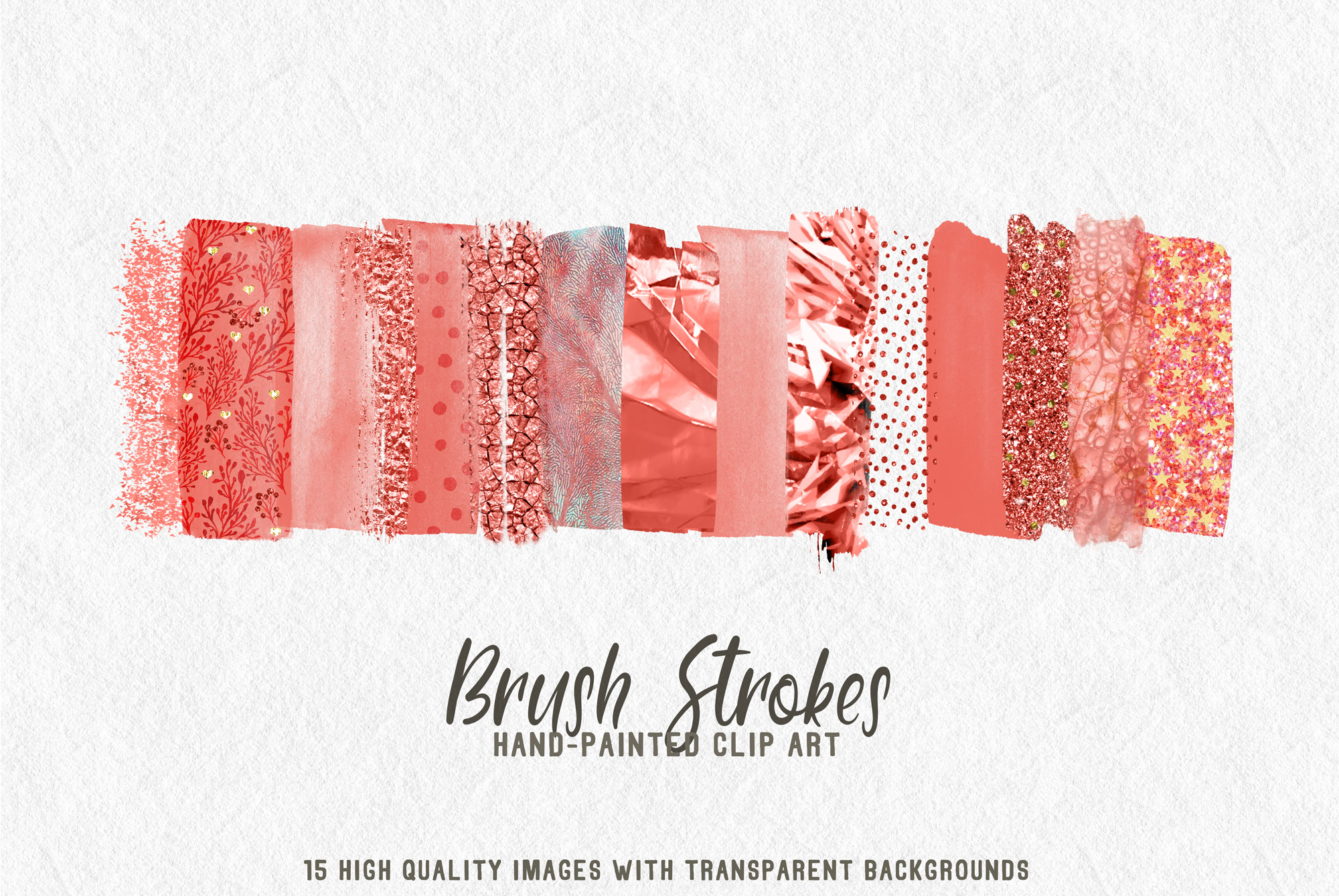15 brush strokes clipart coral example image 1