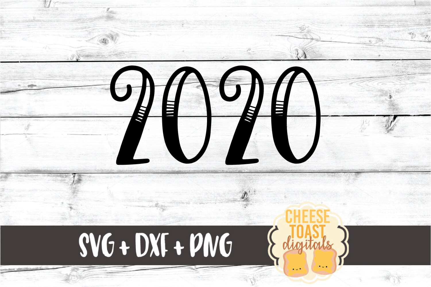 2020 - New Year SVG PNG DXF Cut Files example image 2