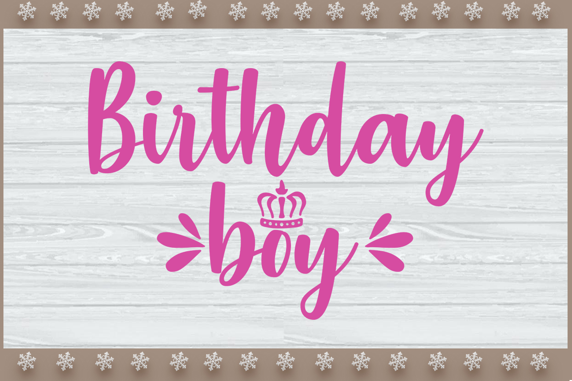 Birthday Girl and Boy's SVG Design example image 2