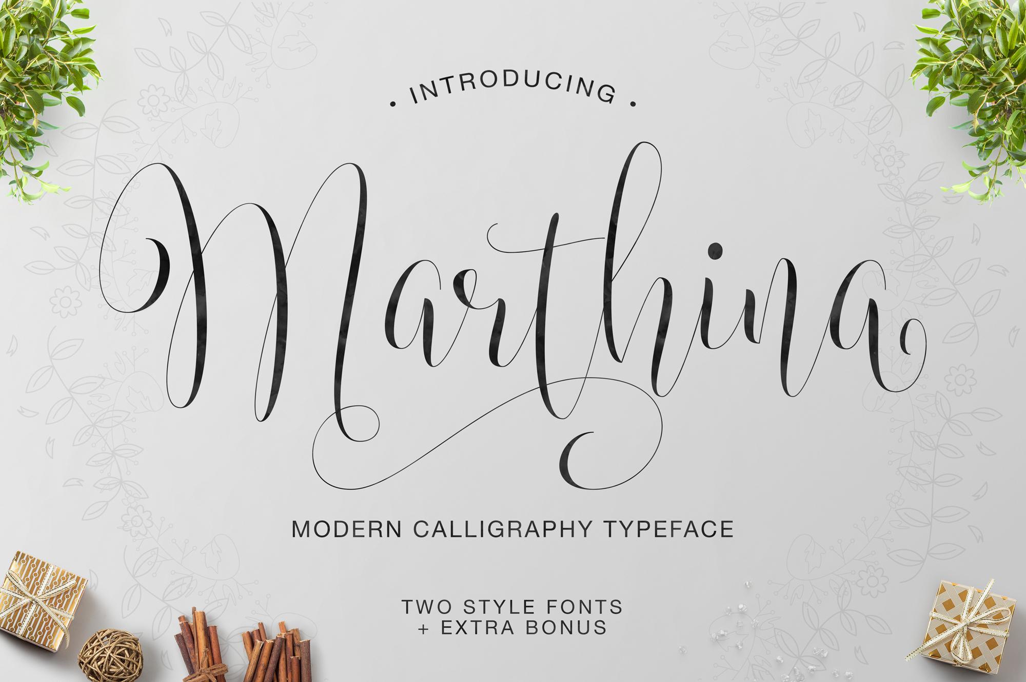Marthina Script - Two Style example image 1