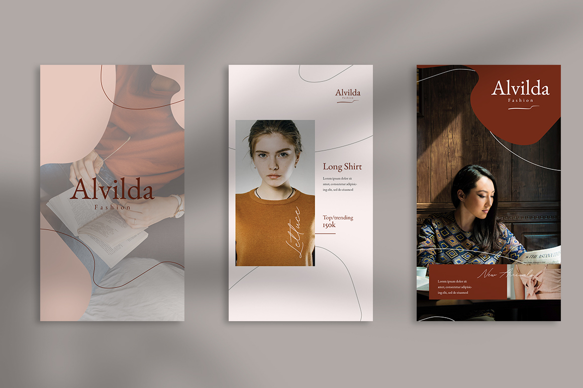 Alvida Instagram Stories Templates example image 4