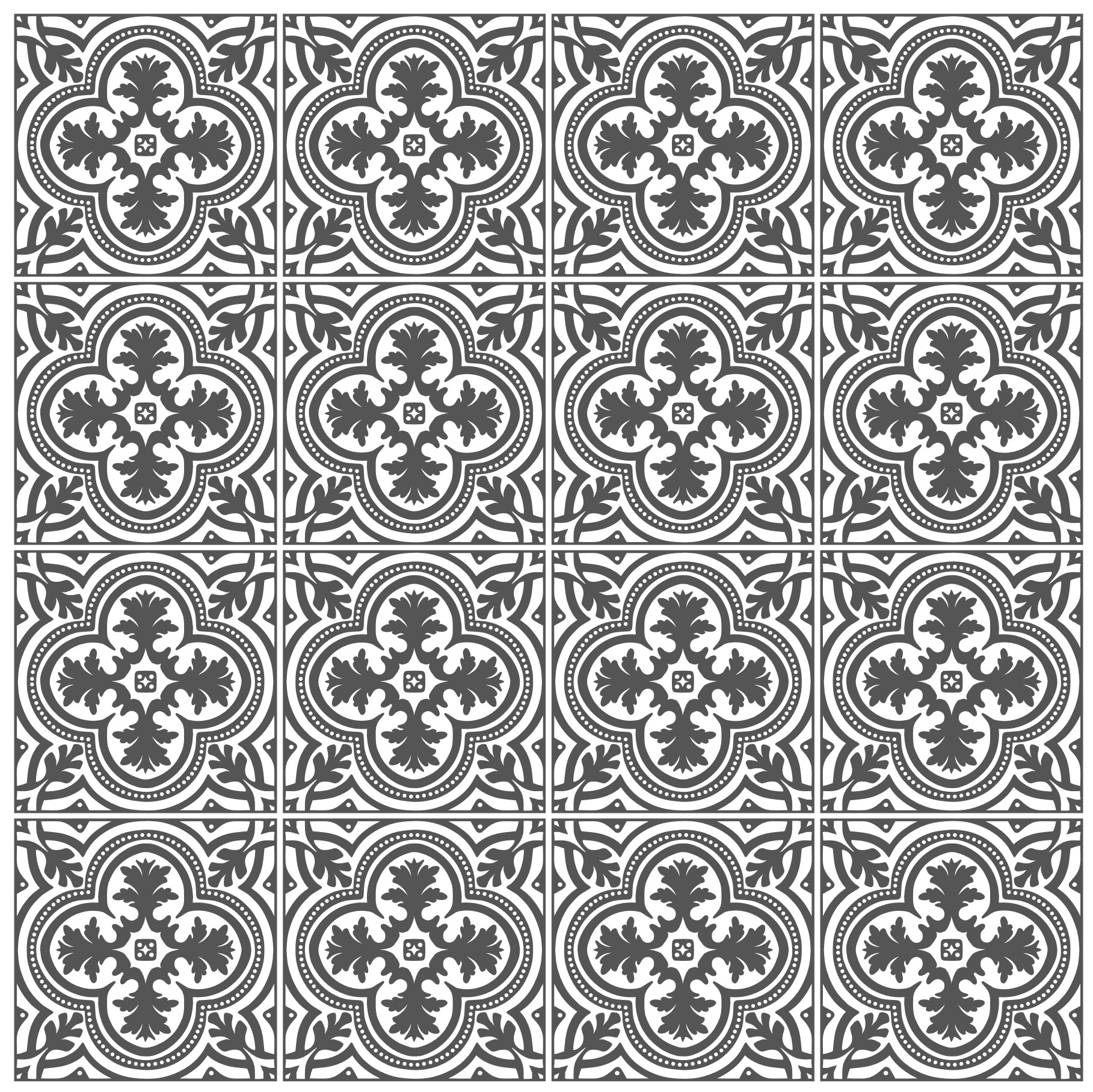 Spanish Tile 1 SVG, Stencil Template and Printable example image 2