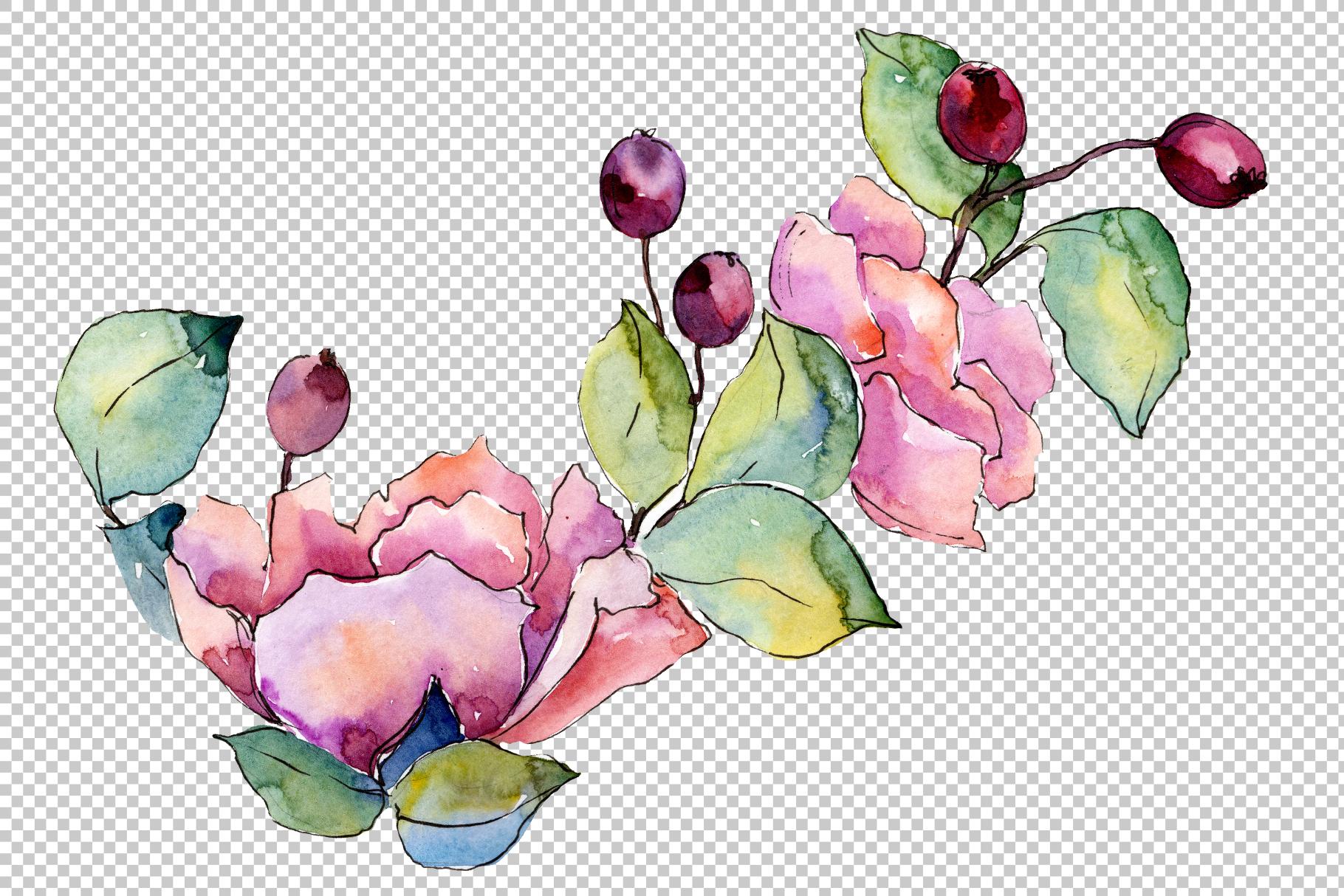 Bouquet Tender dreams watercolor example image 4