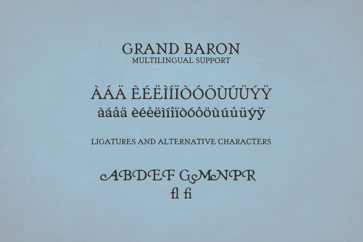 Grand Baron - A Vintage Typeface & Bonus example image 5