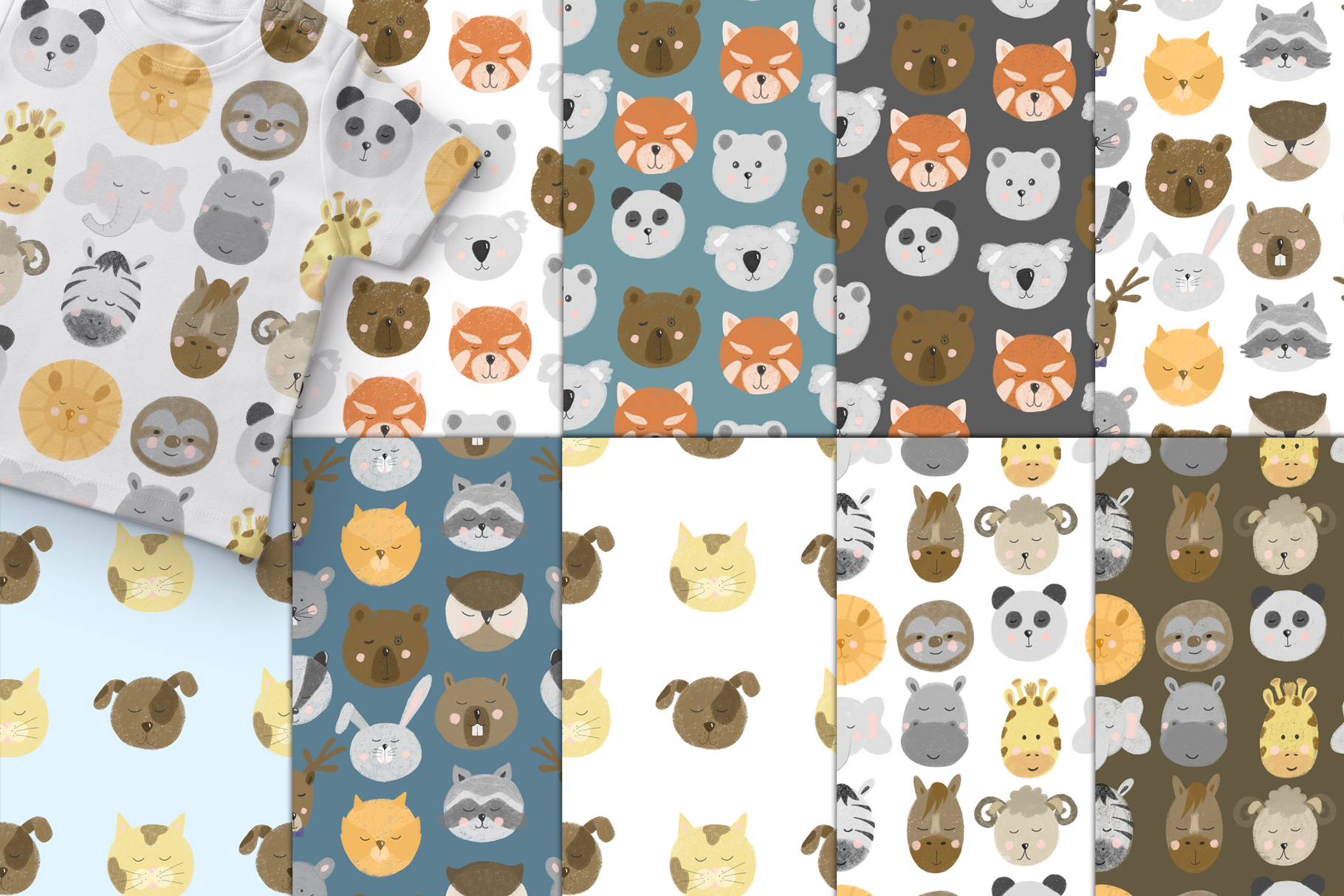 Patterns with Animal faces example image 2