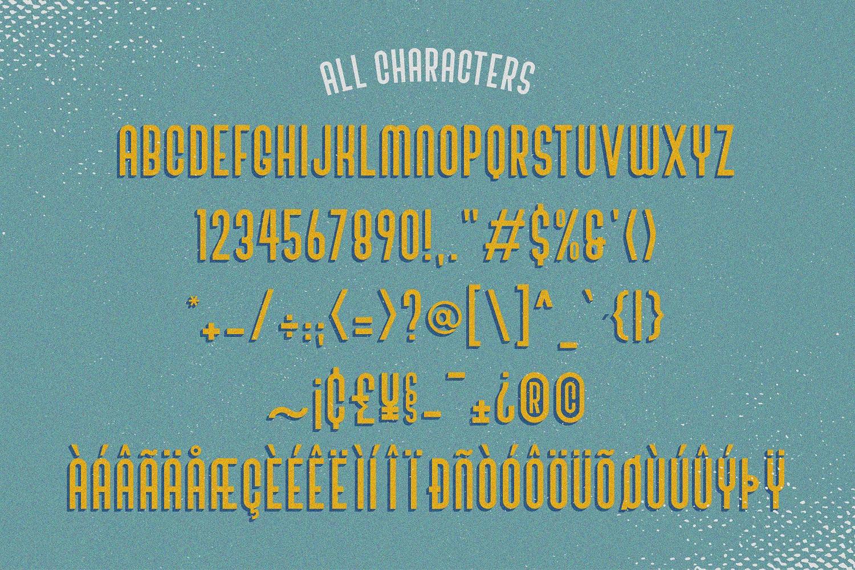 SALE! Bivoac Layered Font example image 3