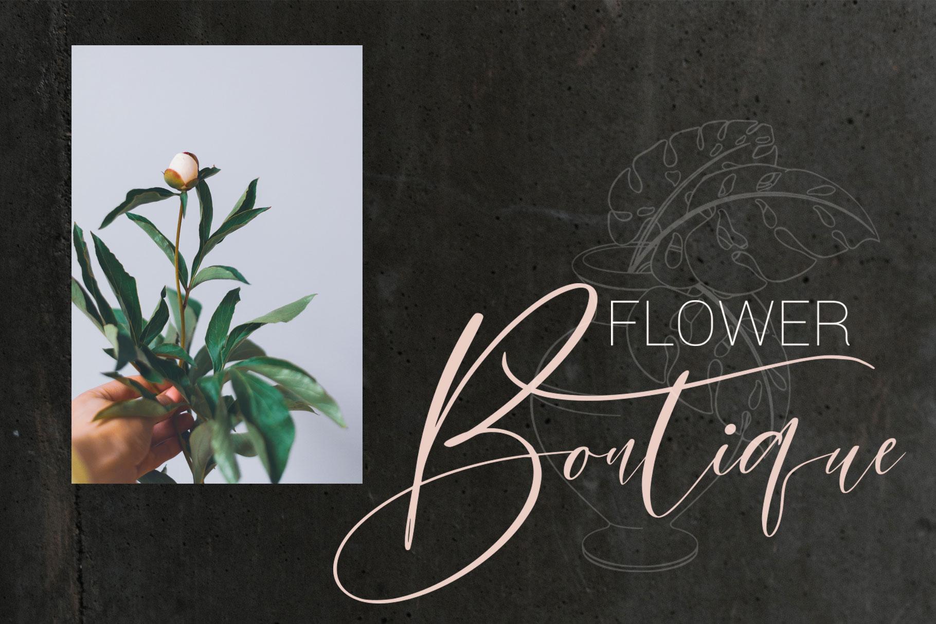 Bomtrys Script Font & Illustrations example image 10