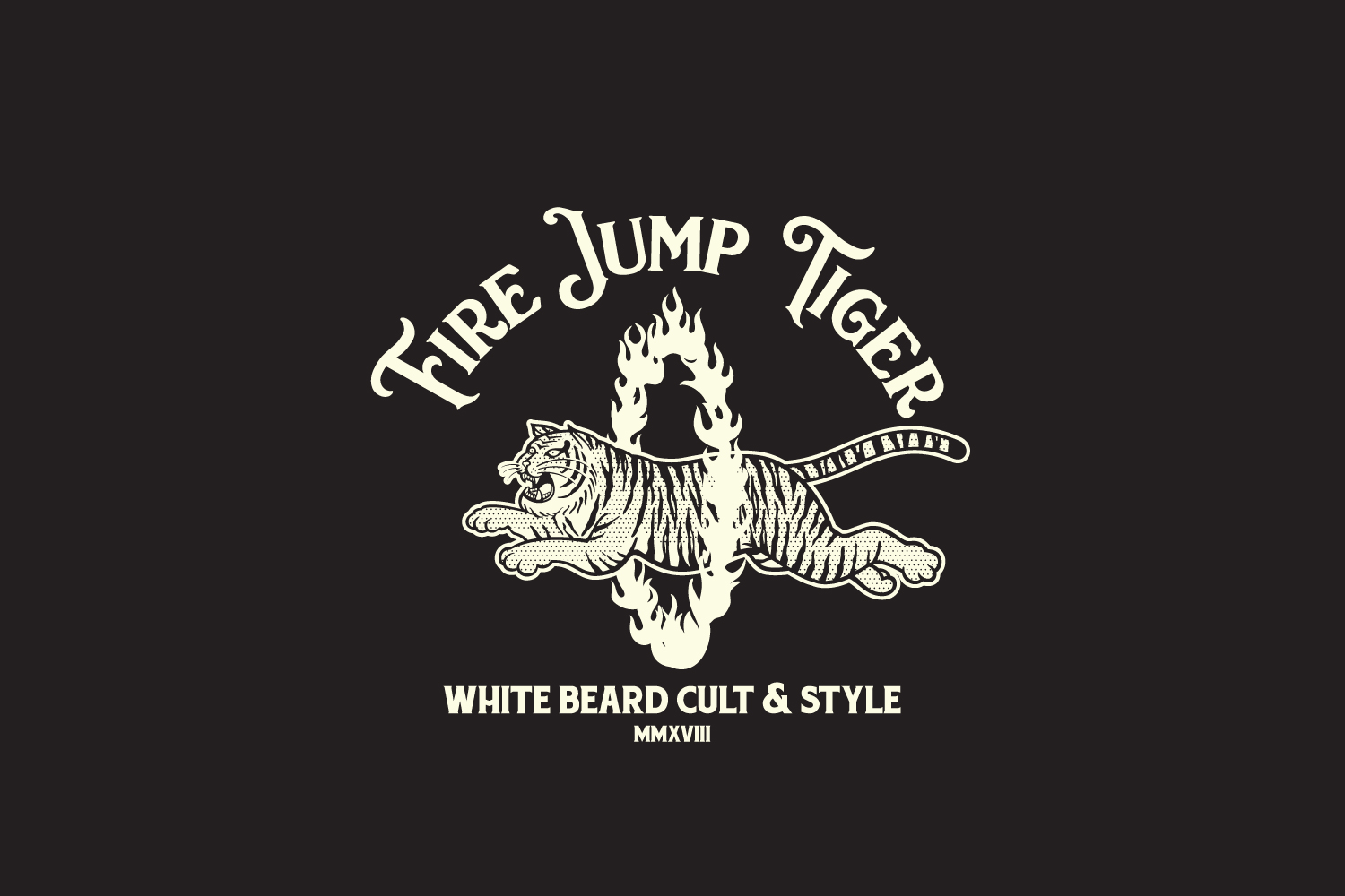 Fire Jump Tiger Logo Template example image 3