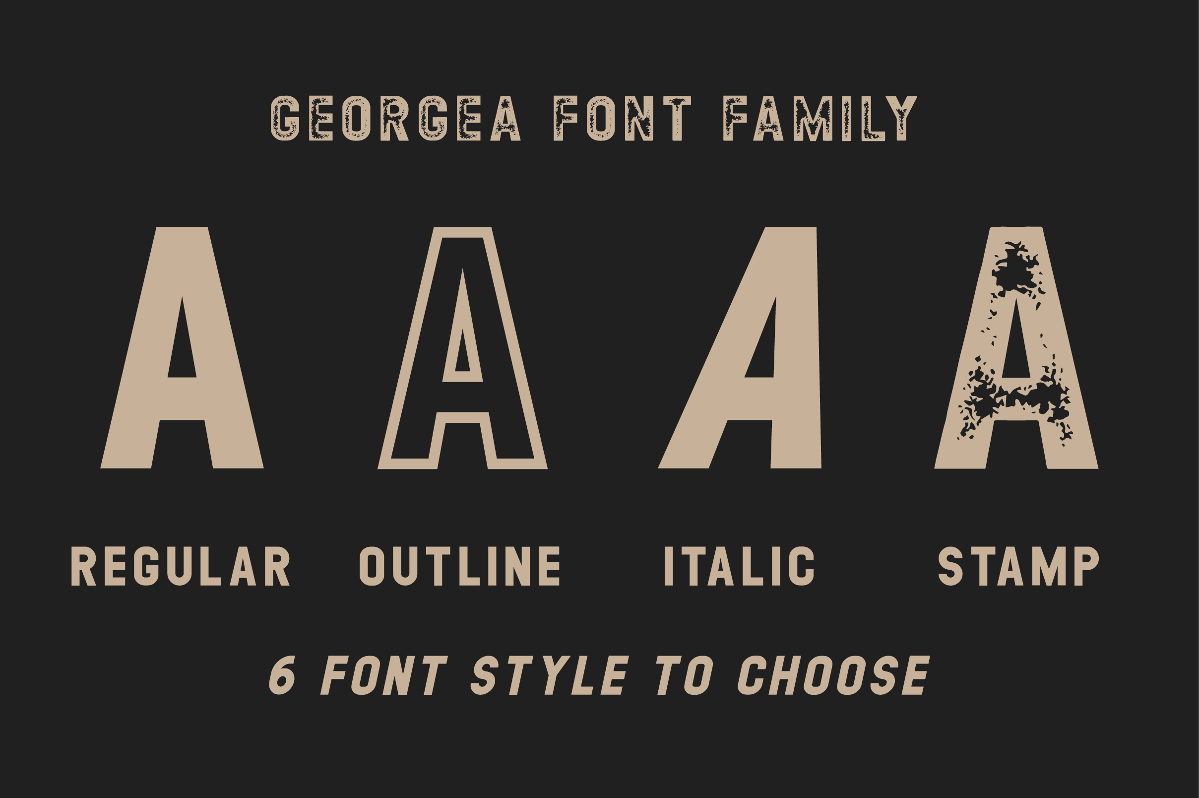 GEORGEA ALL CAPS FONT FAMILY WITH EXTRAS example image 2