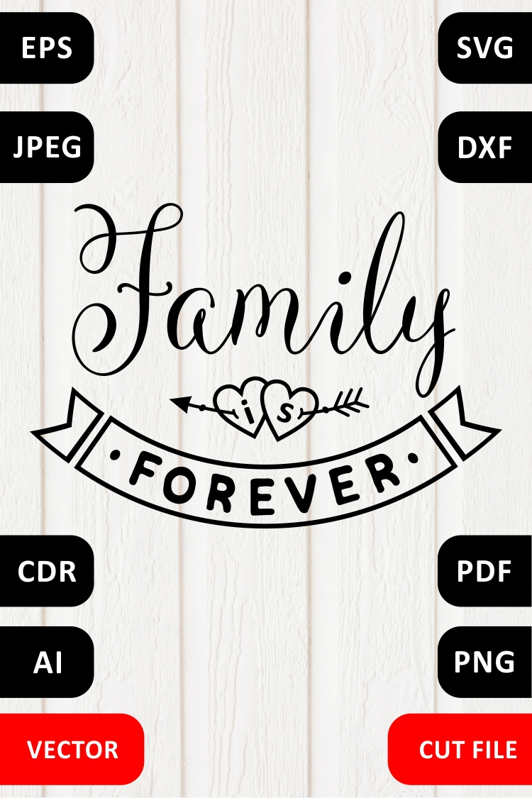 Valentine Love Family SVG Quote cut file example image 5