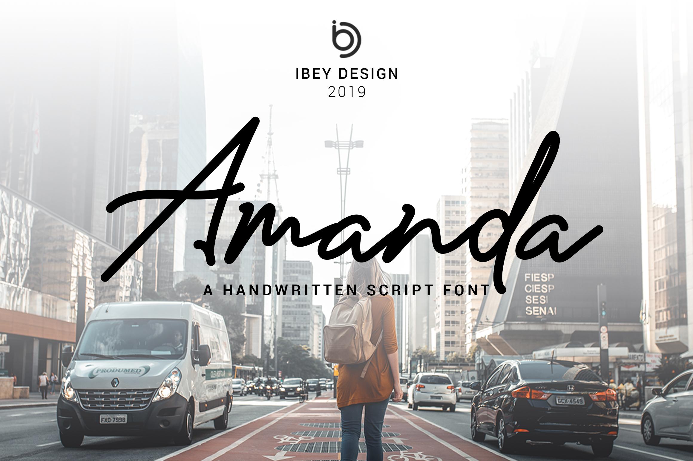 Amanda - Signature Monoline Font example image 1