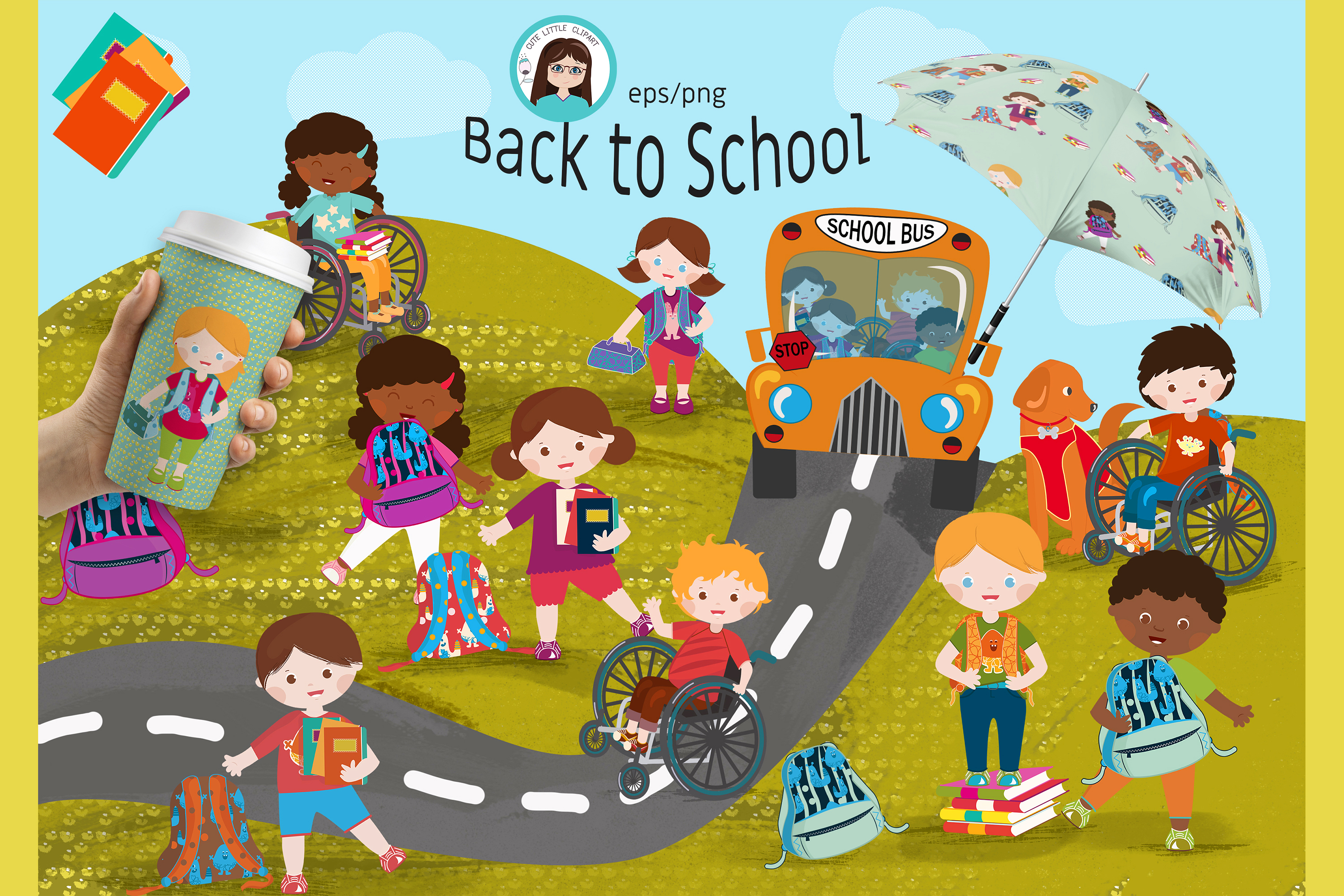 Back to school vector set example image 1