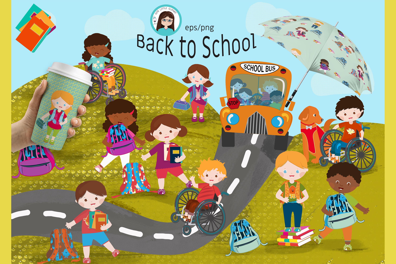 Back to school vector. Set