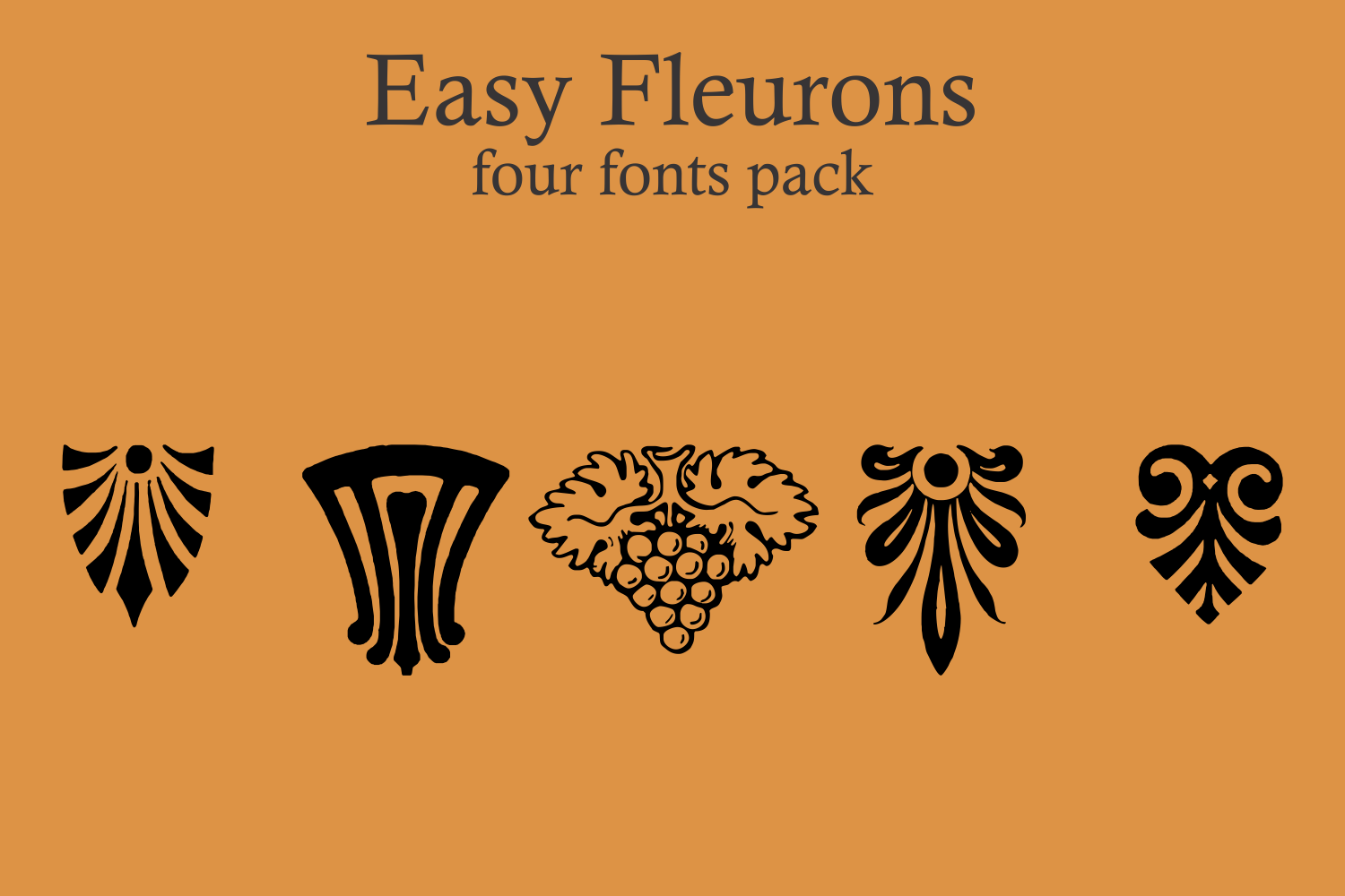 Easy Fleurons Pack (four fonts) example image 2