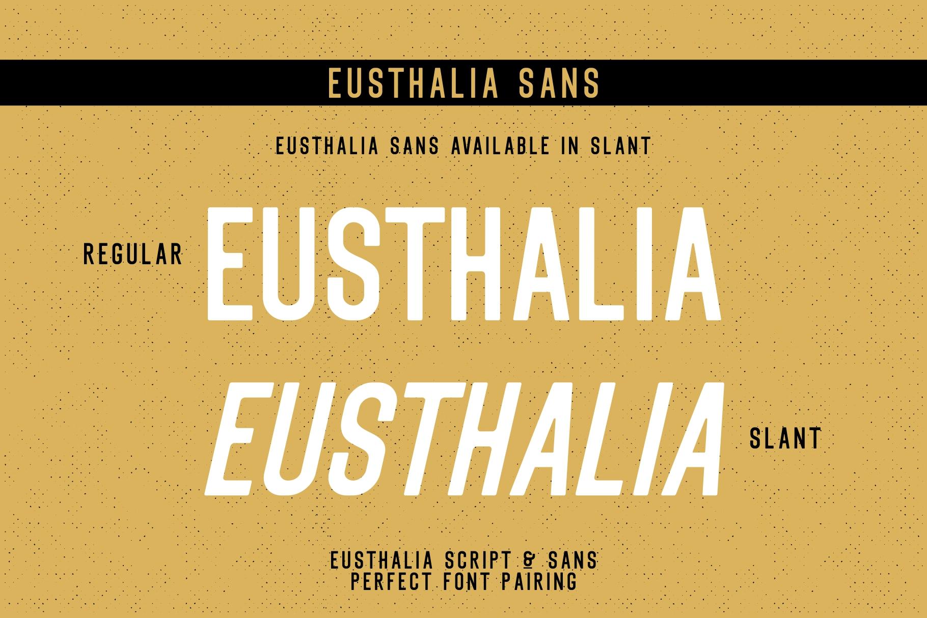 Eusthalia Font Family example image 3