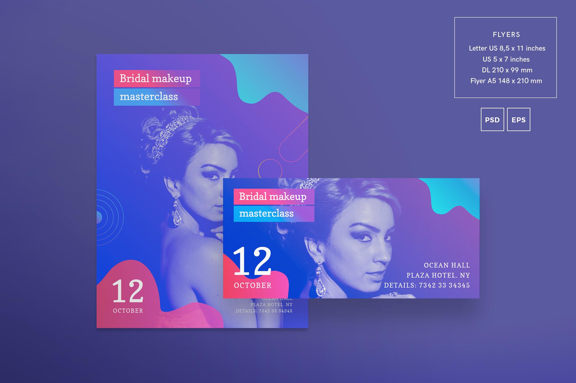 Bridal Makeup Masterclass Workout Design Templates Bundle example image 8