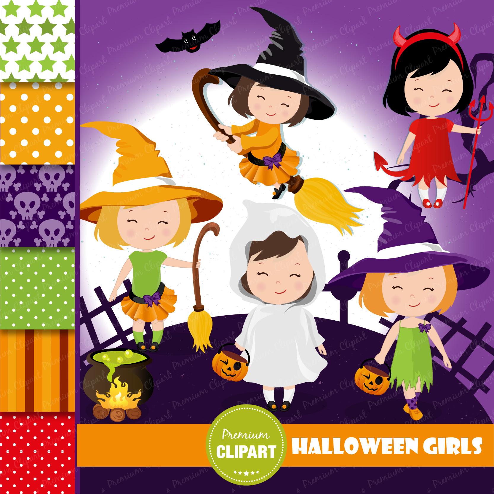 Halloween bundle, Halloween illustrations example image 19