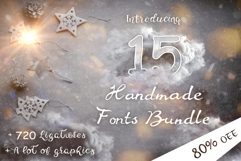 15 Creative Handmade Fonts Bundle example image 1