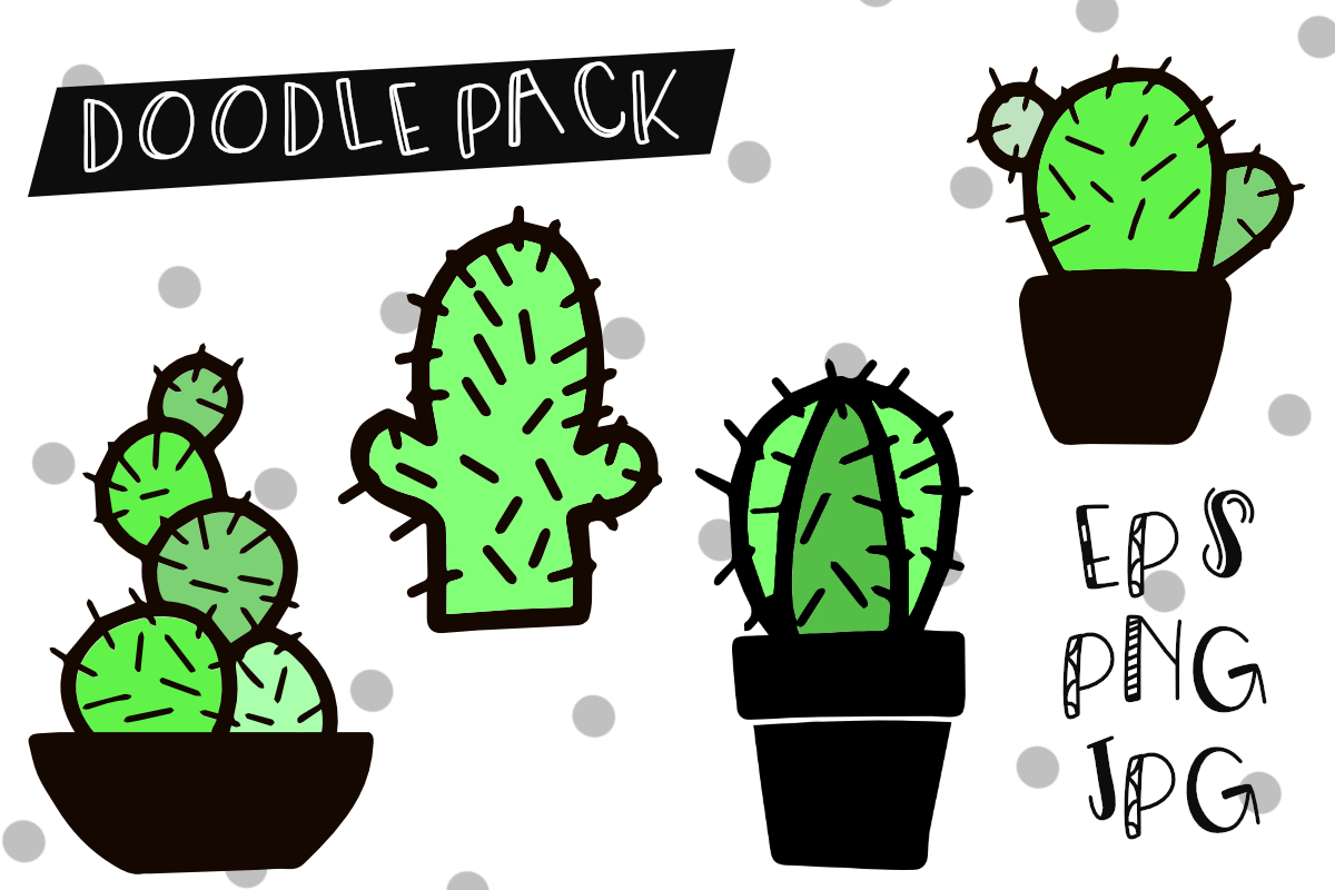 Prickly Cactus Font Duo Free Doodle Pack example image 3