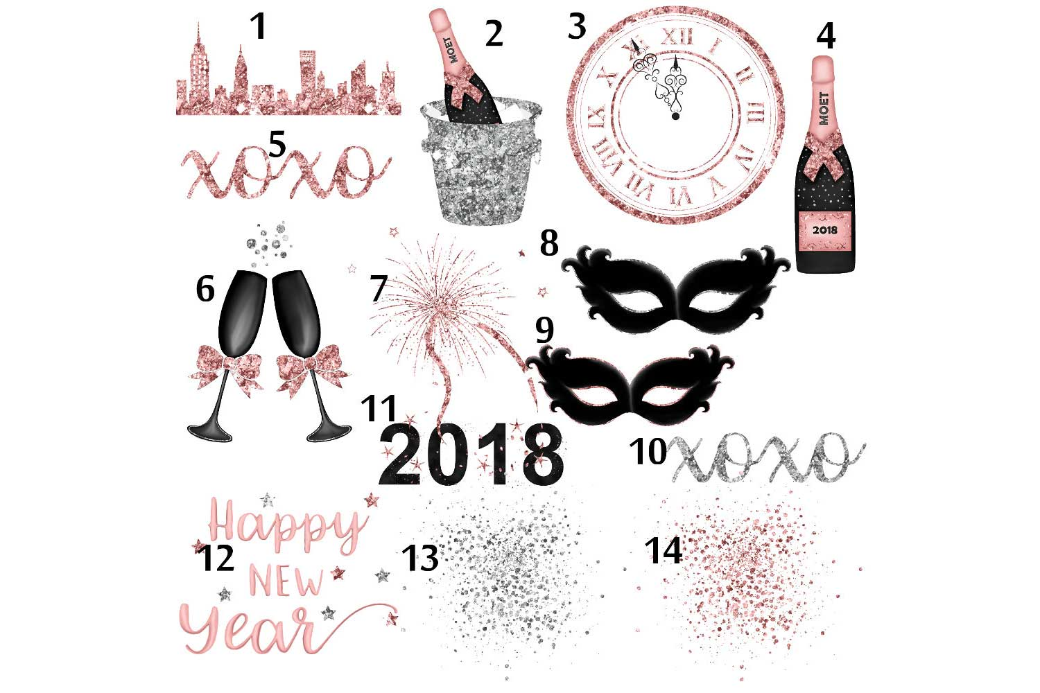 New Years Eve Clipart example image 3