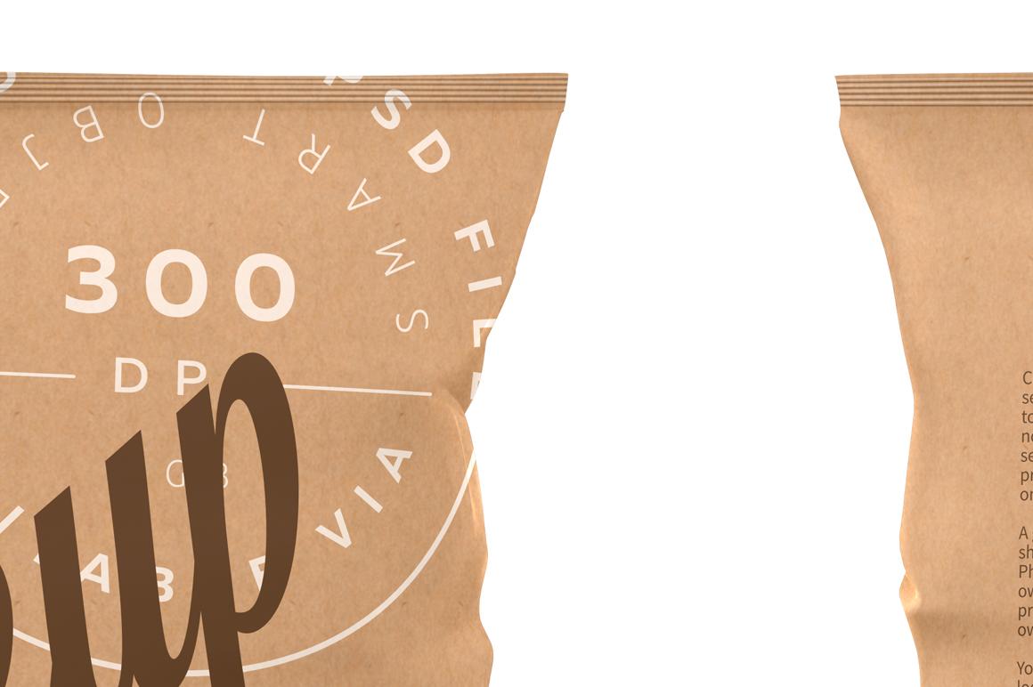 Kraft Snack Package Mockup Front & Back Views example image 2