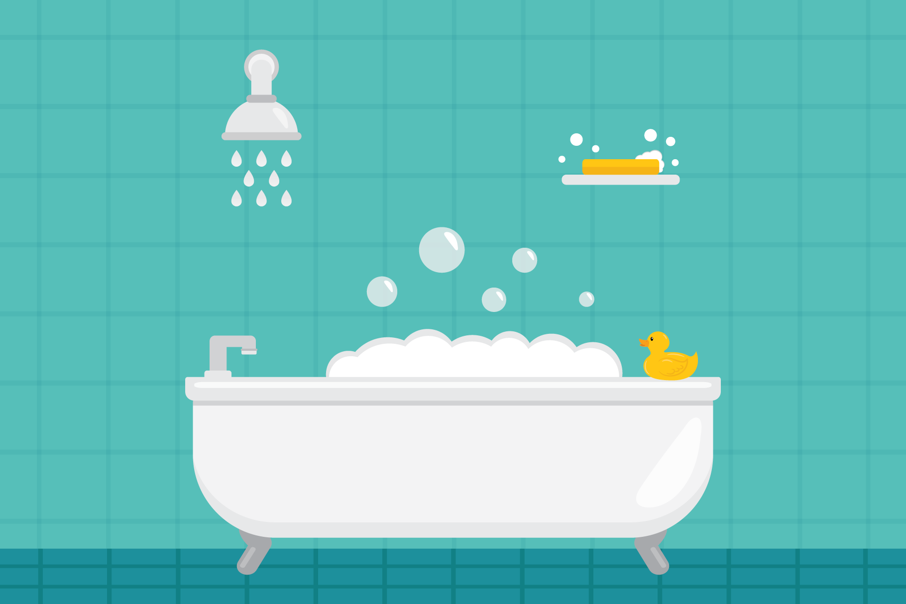 Home Bathroom Clip Art Set example image 4