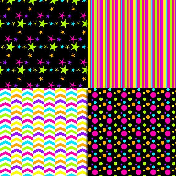 Neon Digital Paper example image 4