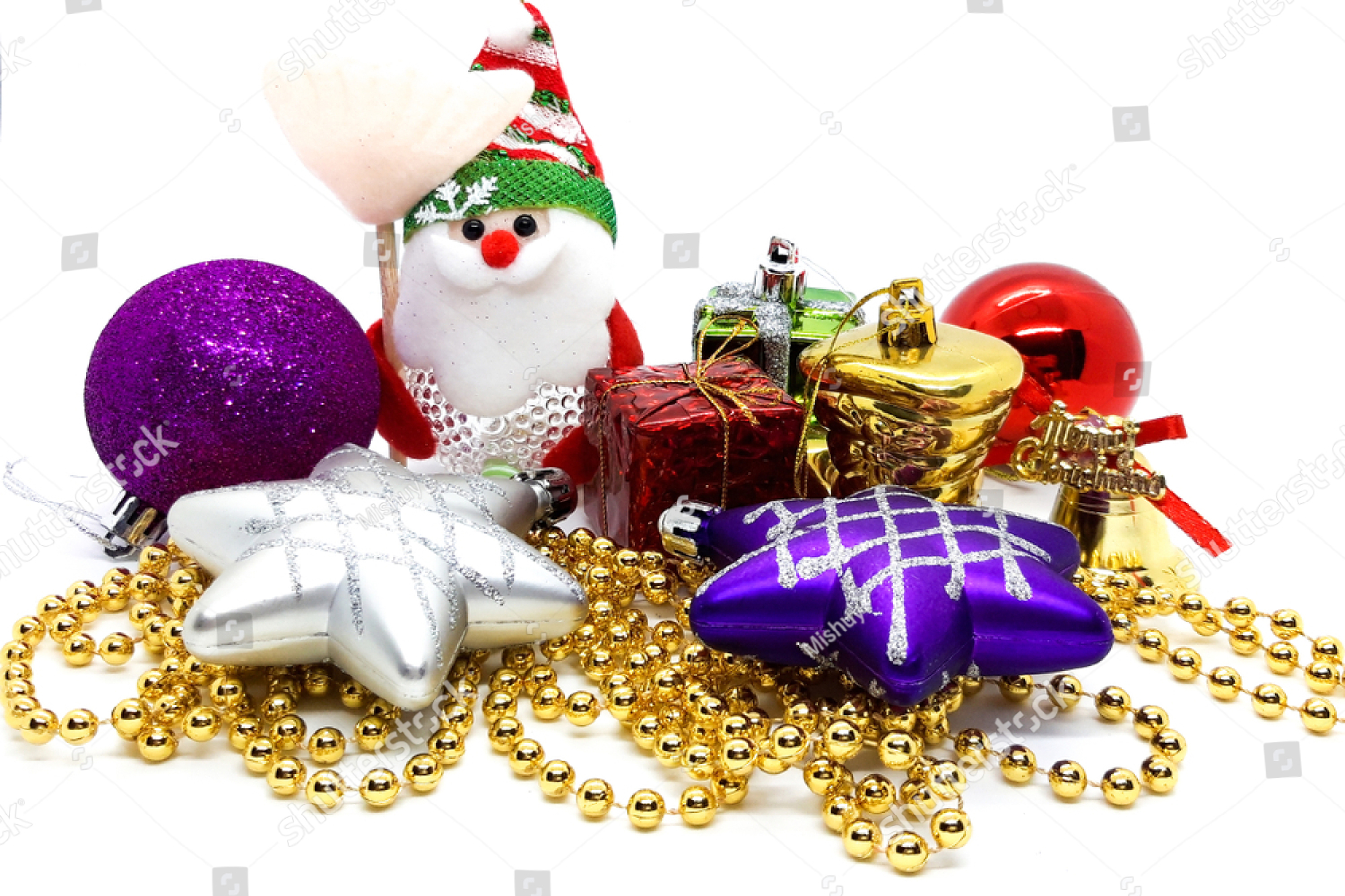 Colorful Christmas Ornaments example image 1