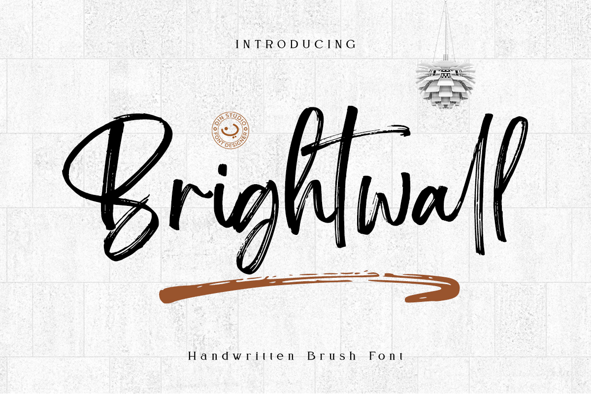 Brightwall Brush Font example image 1