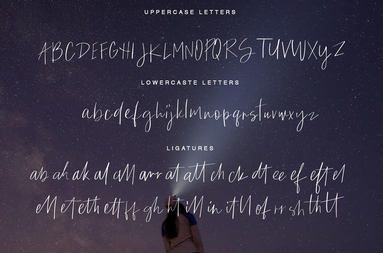 Quick Cloud - script font example image 5