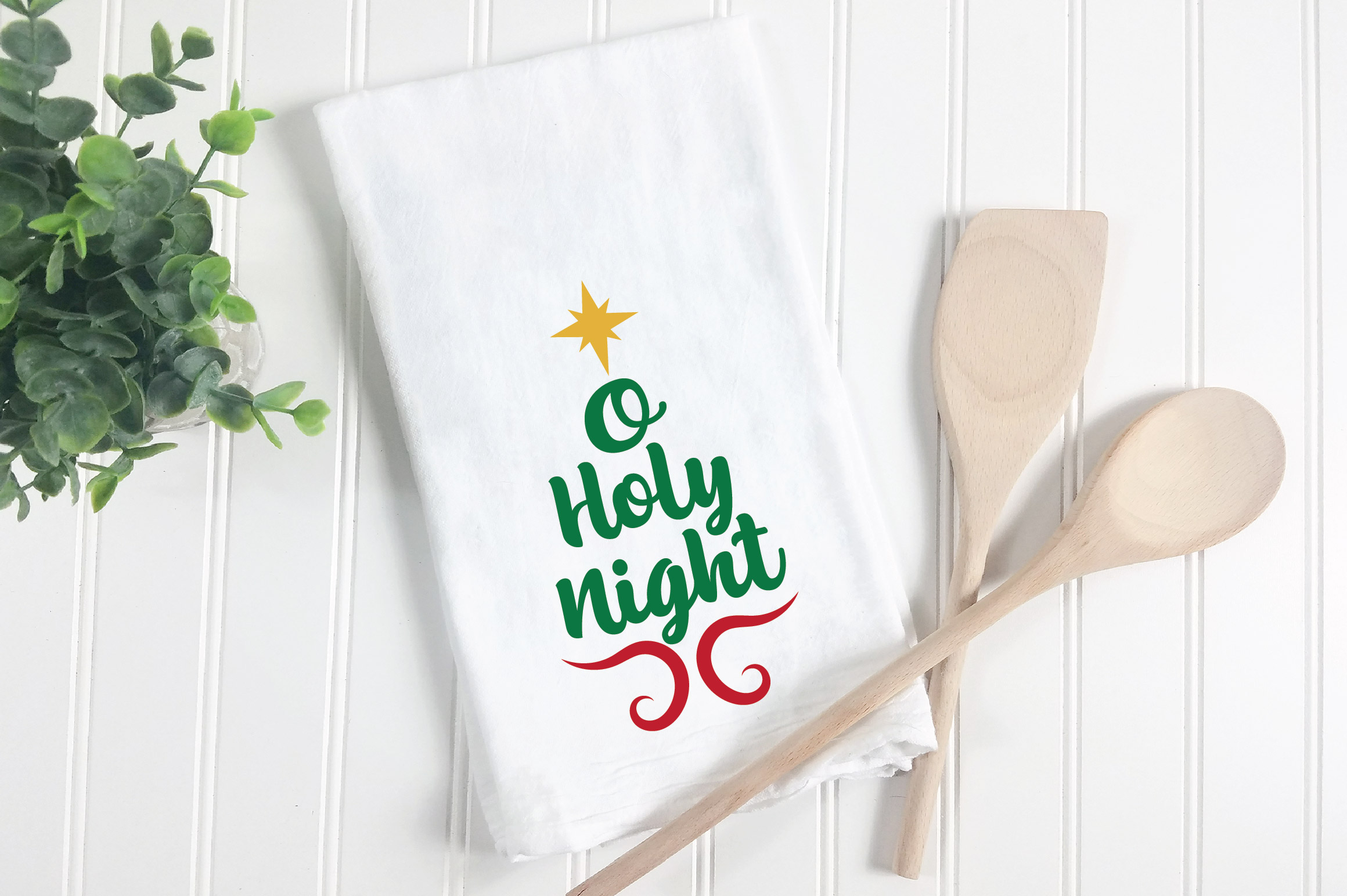 O Holy Night SVG Cut File - Christmas SVG - DXF - PNG - EPS example image 2