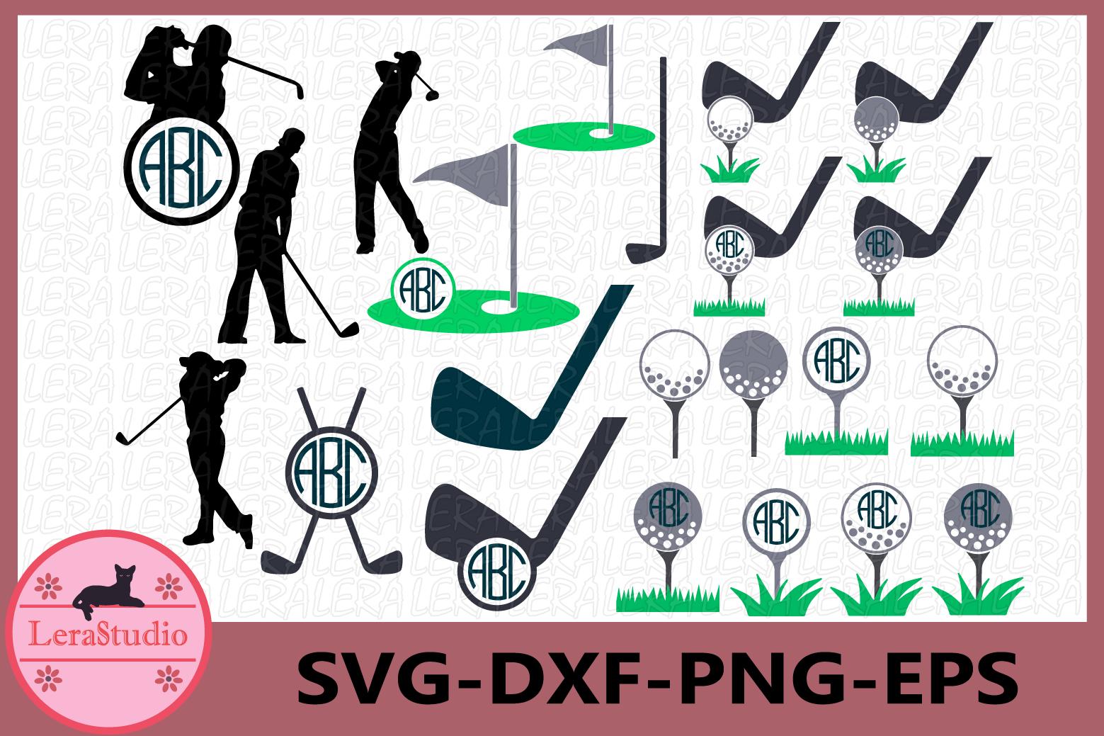 Download Golf Svg, Golf Monogram Svg, Golf Ball SVG, Vinyl Digital