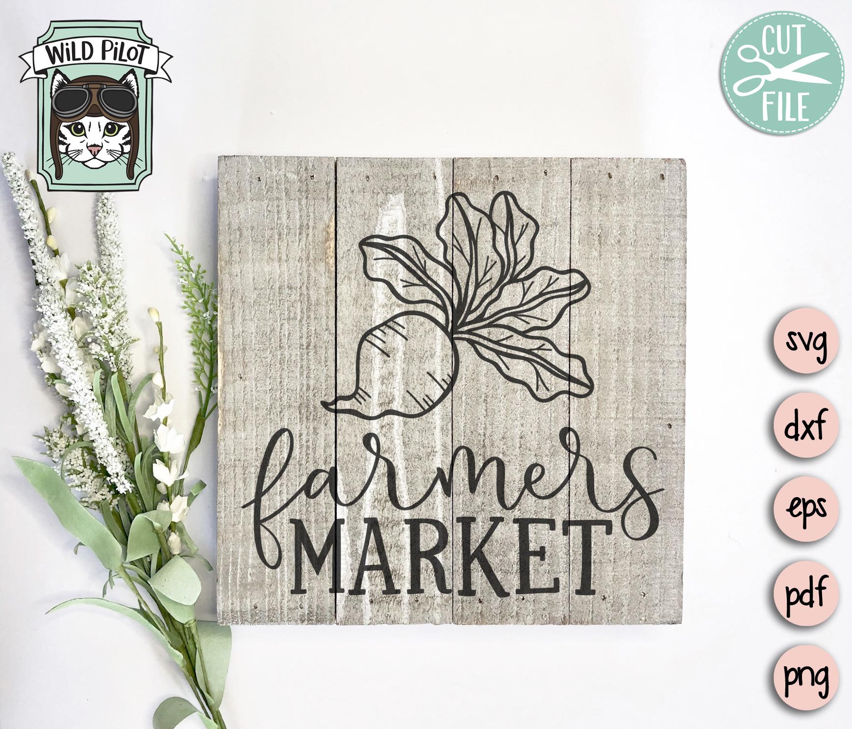 Farmers Market SVG, Farm Cut file, Kitchen, Vegetable, Beet example image 3